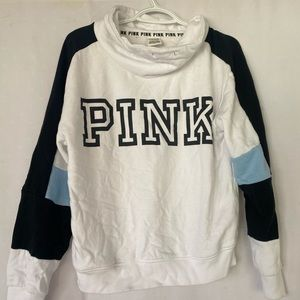 pink white crewneck